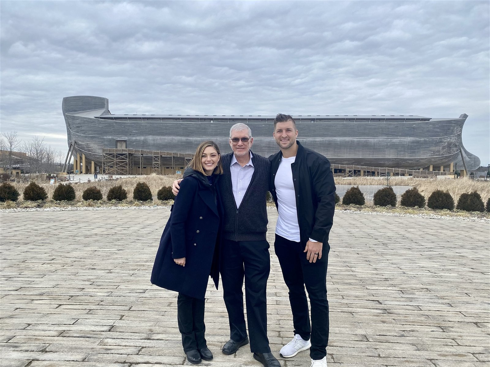 Ken Ham with Tim and Demi-Leigh Tebow