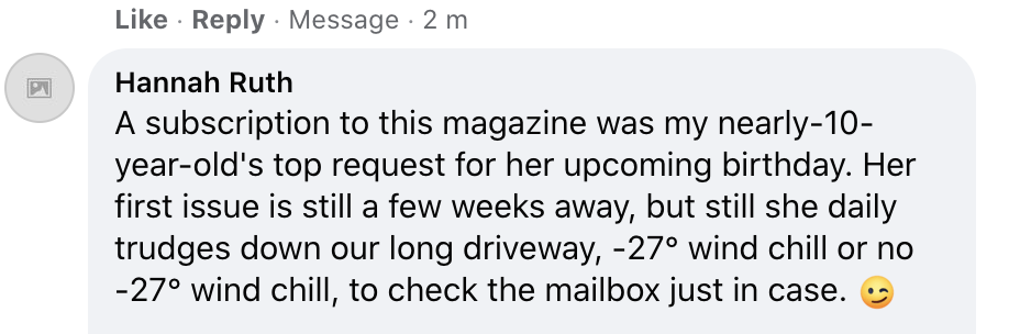 Kids Answers FB Message