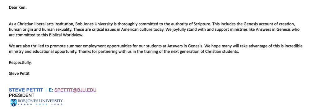 College minister response