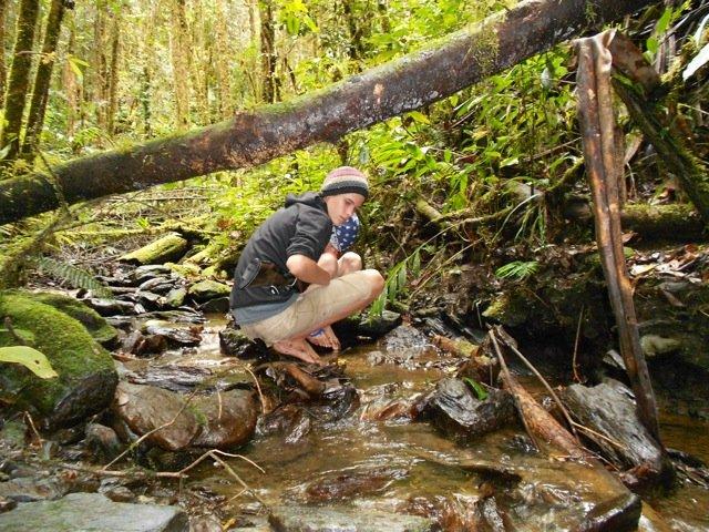 Hudson Exploring a Creek