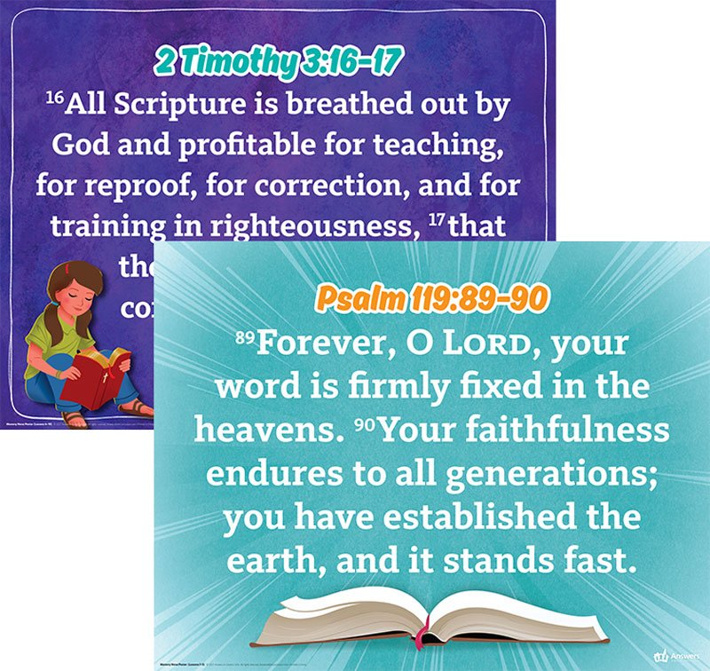 Answers Bible Curriculum Memory Verse Posters