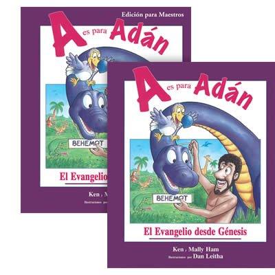 A es para Adán-set de 2 libros (estudiante y maestro)