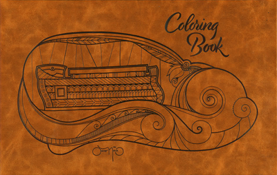 Oscar Nava Adult Coloring Book