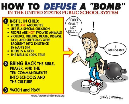 How to defuse a bomb in the US public school system! (cartoon)