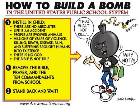 How to build a bomb in the US public school system! (cartoon)