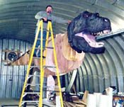 Buddy Davis with T-rex model