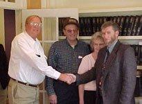Ken Ham greets former property owner