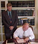 Signing of closing documents