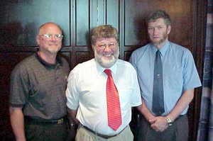 Mike Zovath, Dr. White and Ken Ham