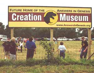 Creation Museum sign