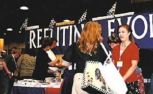 CSEC volunteers engage NEA delegates