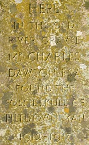 Top of monument inscription.