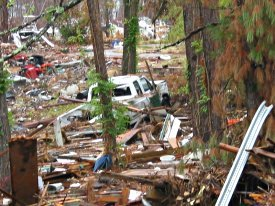 A photo of the damage in Ocean Springs