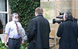 Dr. Monty White interviewed by a Dutch TV crew