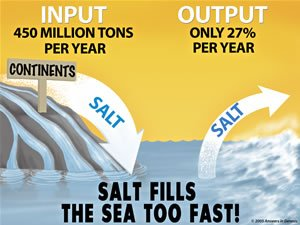 Sea saltiness illustration