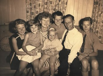 The Ham family in the 1960s