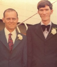 Ken with his dad at Ken's wedding