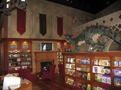 The inside of the bookstore