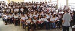 Dr. Layton teaching Filipino creation speakers.