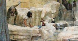 Children in Museum Lobby