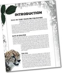 Zoo Guide Introduction page