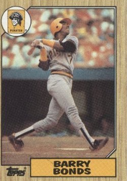 Barry Bonds Baseball Card