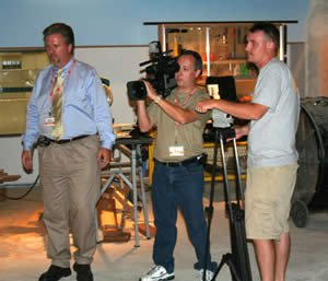 Coral Ridge film crew at the Creation Museum