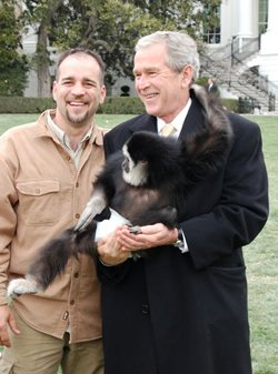Dan Breeding and President Bush