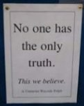 church sign: no one has truth