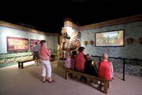 Creation Museum's exhibit area on the Tower of Babel