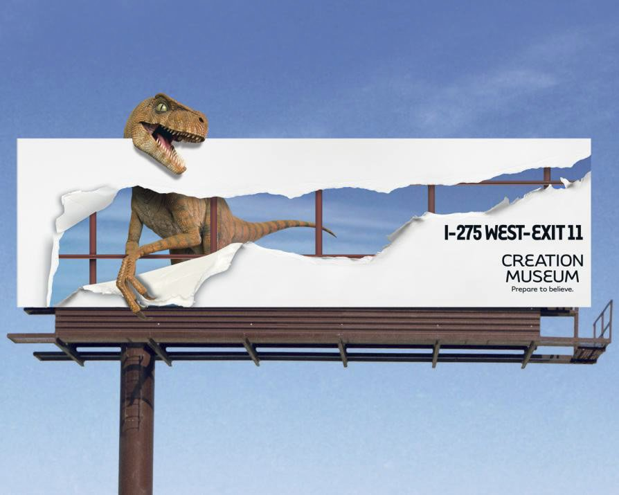 Creation Museum Dinosaur Billboard