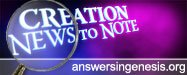 Creation News to Note