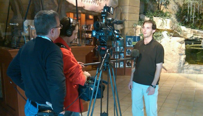 Nightline interview at the Creation Museum