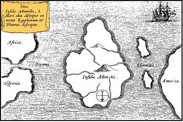 Athanasius Kircher's map of Atlantis