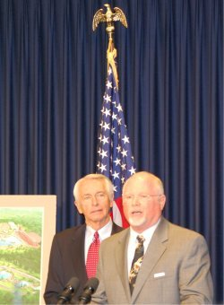 Kentucky Gov. Steve Beshear and Mike Zovath