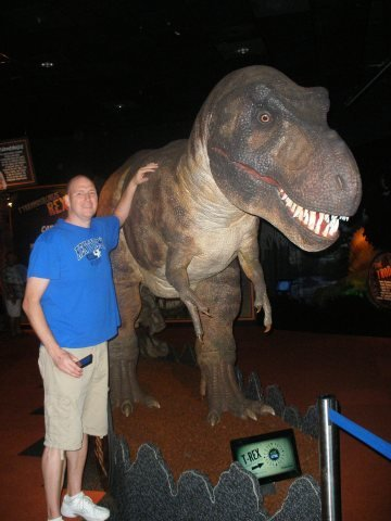 Tim and the T-Rex