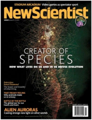 The cover of the 14 January 2013 edition of <i>New Scientist</i>
