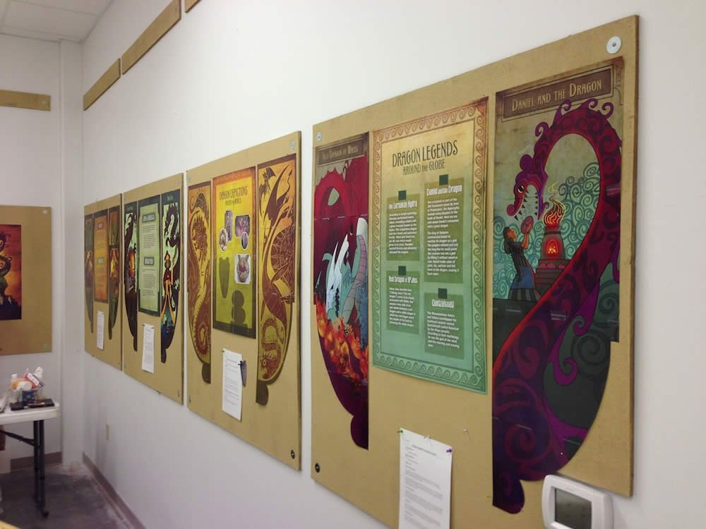 Dragon exhibit storyboarding