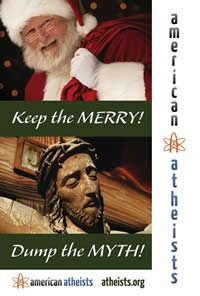 Atheist Billboard: Keep the Merry! Dump the Myth.
