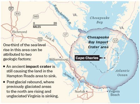 Chesapeake Bay Impact Crater Area