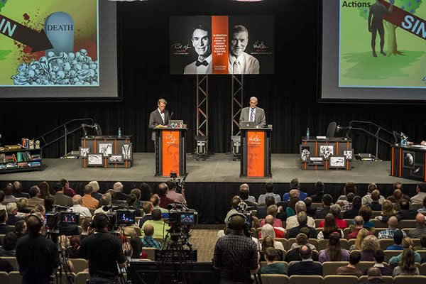 Photo taken during the debate in the Creation Museum's Legacy Hall