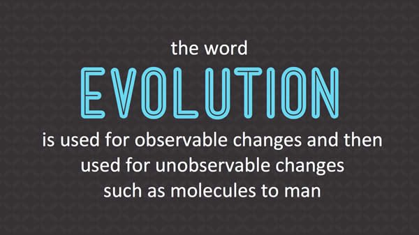 Two Uses of the Term Evolution