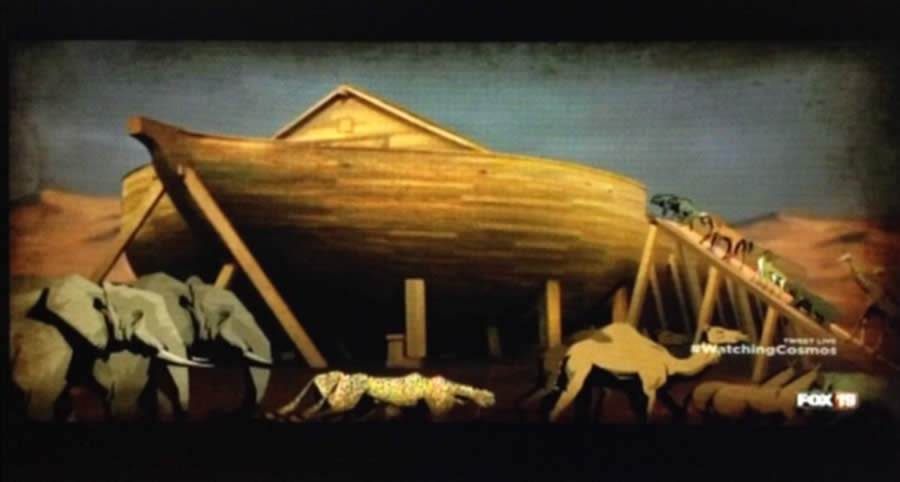 A portrayal of Noah's Ark