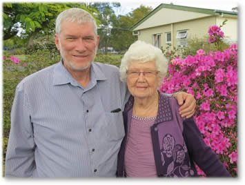 Ken Ham and his mother