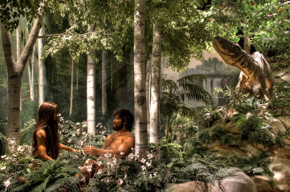 Adam, Eve, and a Dinosaur