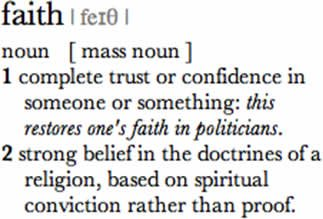Oxford Dictionary of English definition of faith