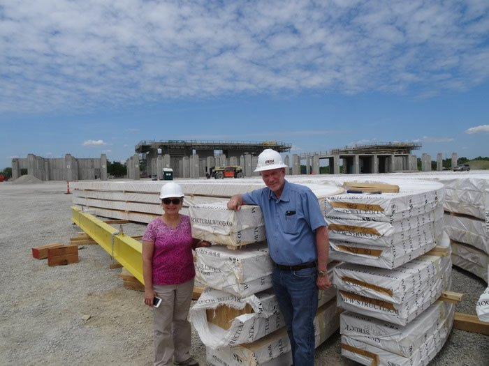 Ken and Mally at Ark Site