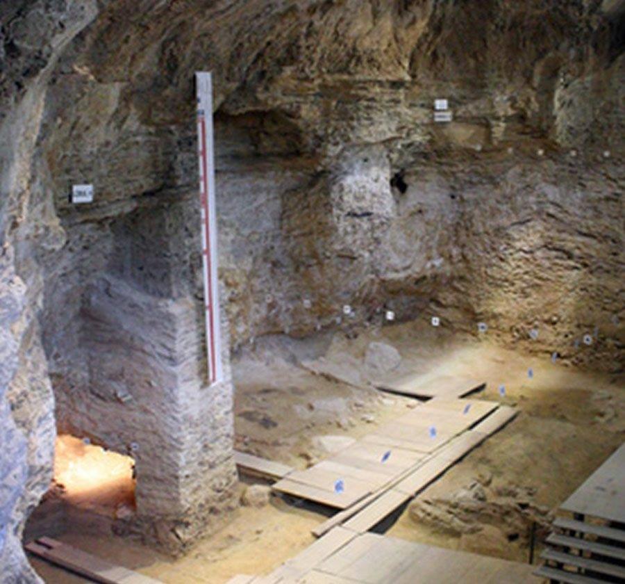 Excavation of Neanderthal Site