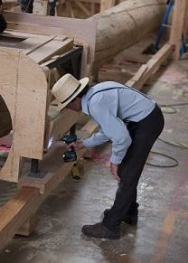 Amish Construction Worker at Ark Encounter