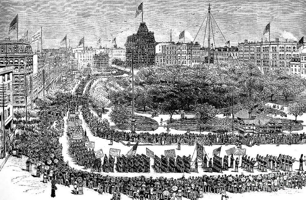 Labor Day Parade in Union Square, New York, 1882